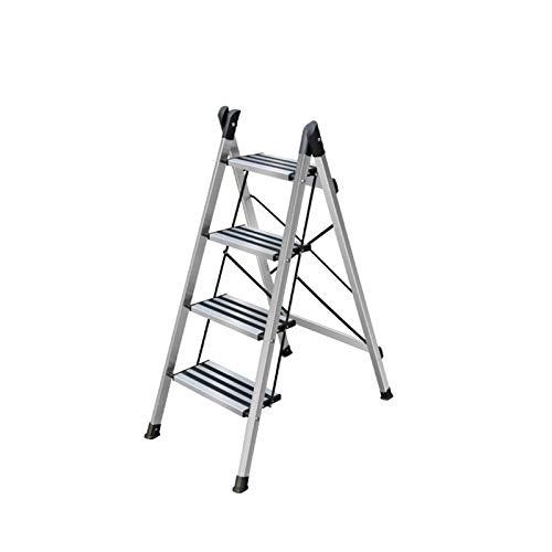 Escalera Antideslizante Segura De 2 Pasos Escalera De 3 Pasos Escalera De 4 Pasos, Taburete De Aluminio Ultraligero Taburete De Cocina Multifuncional / Almacenamiento doblez(Size:50*81*114CM)