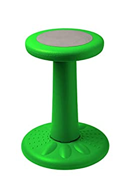 Active Kids Chair by Studico – Wobble Chairs Juniors/Pre-Teens  Grades 3-7  - Flexible Seating Classroom- Children Who Can't Sit Still - 17.75  Wobble Chair - Corrects Posture | Green