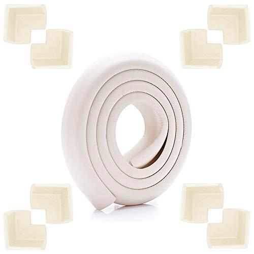 SUNSK Protector Bordes Protectores Para Esquinas y Bordes Espuma Forma de L Mesa Borde Anticolisión Tira para Seguridad Bebés y Niños 11 Piezas