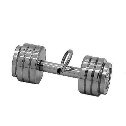 tumundo Ketten-Anhänger Edelstahl Hantel Gewicht Boxhandschuh Sport Fitness Bodybuilder Für Hals-Kette Panzerkette, Modell:Mod9 - Silber