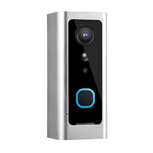 Videoportero, portero automático, sistema inalámbrico para sistema de seguridad en el hogar Oficinas Apartamentos a todo color(Silver)