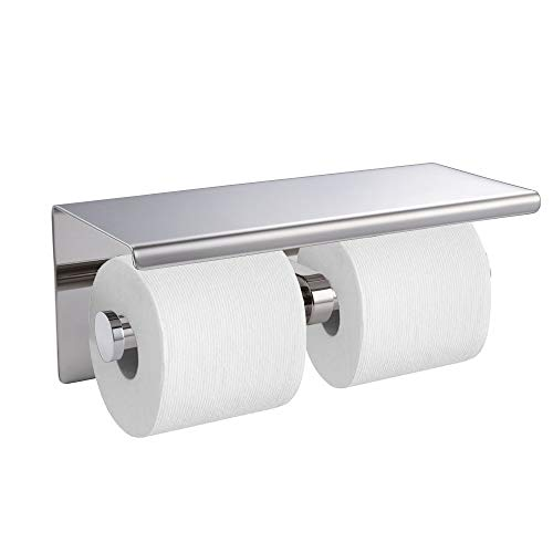 Top 10 best selling list for dual toilet paper holder with shelf