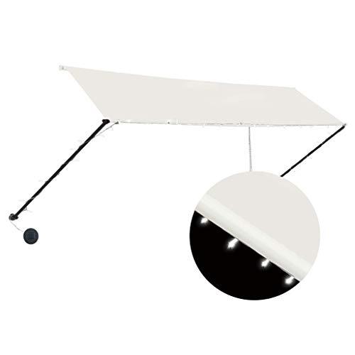 Goliraya Toldo retráctil con LED Toldo Terraza Toldos Impermeables Exterior, Color Crema 350x150 cm