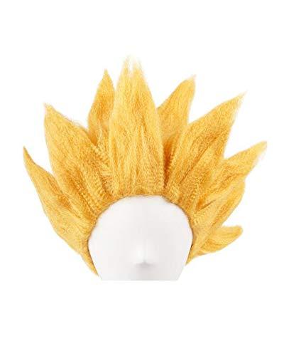 miccostumes Men's Saiyan Cosplay Wig (Gold)