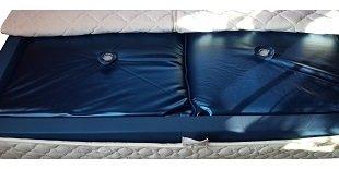 Mesamoll2® Wasserbetten Matratze 100x200 cm/Wassermatratze für DUAL Softside Wasserbett/Außenkante 200x200 cm (F6 100% Beruhigung)
