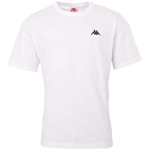 Kappa Veer - Maglietta da Uomo, Uomo, T-Shirt, 707389, Bianco, S