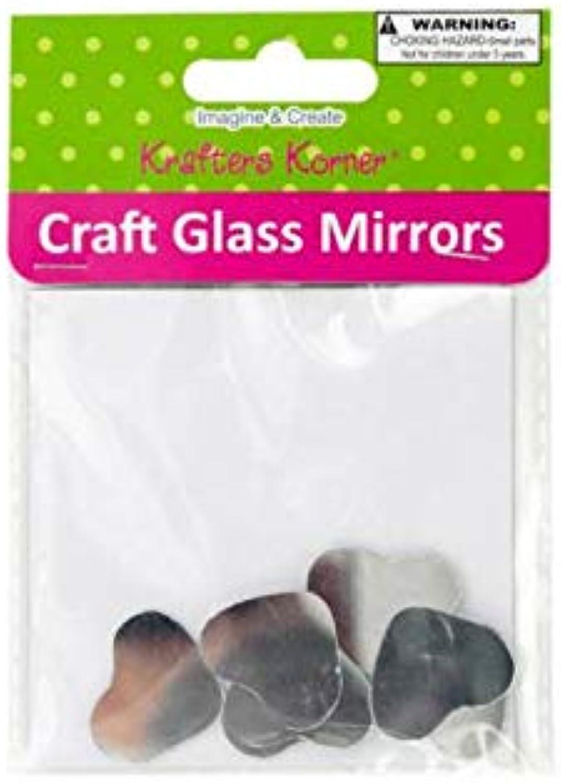 8-Pc Heart Shape Craft Glass Mirror Set