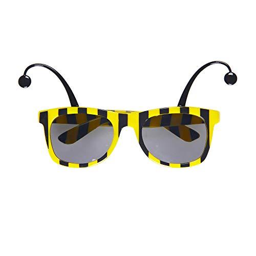 Widmann 0312B Bienenbrille mit Fühlern, Gelb/Schwarz, Einheitsgröße