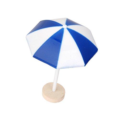 Gazechimp Mini Sonnenschirm Miniatur Garten Mini-welt Ornament Gartendeko - Blau, L