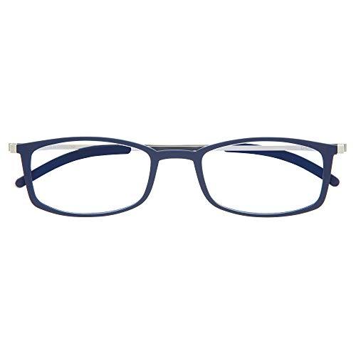 DIDINSKY Gafas de Lectura Graduadas Ultra Delgadas para Hombre y Mujer. Gafas de Presbicia muy Ligeras con Lentes con Protección Luz Azul. Indigo +3.0 - MACBA SQUARE