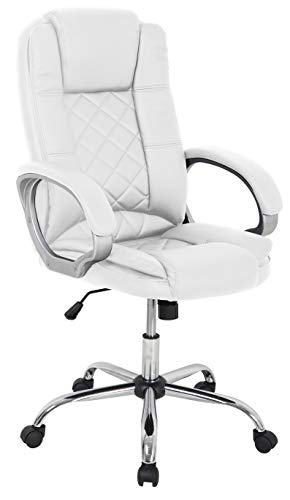 Silla giratoria Tango Color Blanco elevable despacho Oficina habitación Estudio Moderna 111-120x67x