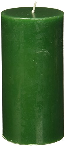 Zest Candle Pillar Candle, 3 by 6-Inch, Hunter Green