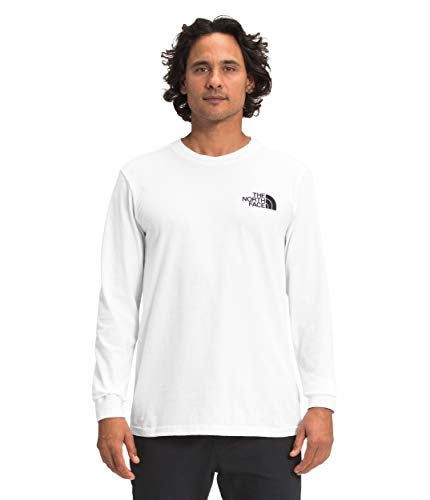 Photo of The North Face Men's L/S Box NSE Tee, TNF White/TNF Red, L