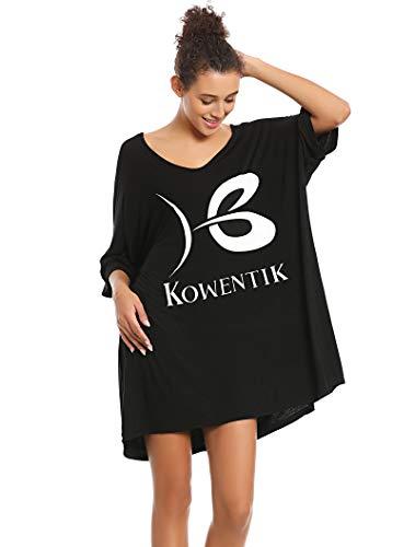 KOWENTIK Pijamas Mujer,Camisón Mujer Sexy Algodón