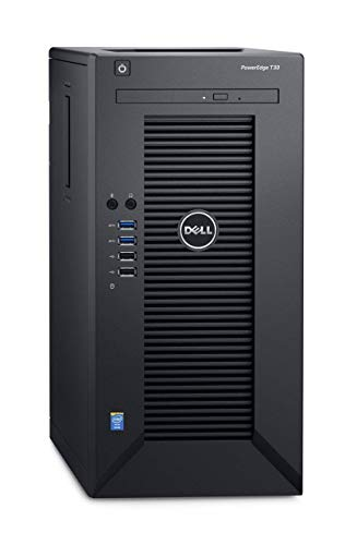 Dell 30-0265 PowerEdge T30 3.3 GHz E3 – 1225 V5 290 W Mini Tower (Chassis 4X 8,89 (4X 3,5 Zoll), Intel I217-LM, 1TB HDD, DVD RW, Embd SATA, Embedded BMC) schwarz