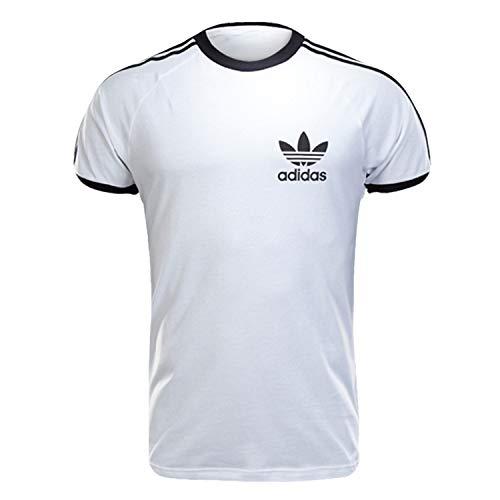 Adidas - T-Shirts mit Rundhalsauschnitt - Herren - Weisses Baumwoll T-Shirt Sport Originals für herren - M