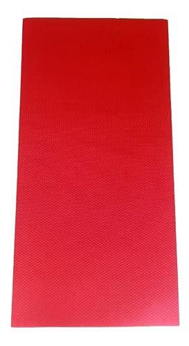 Colchonete Eva Tapete Yoga Academia Exercícios 10mm Vermelho