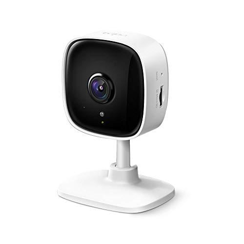 TP-Link Tapo C100 WLAN IP Kamera Überwachungskamera innen (1080p-Auflösung, 2 Wege Audio, 9m Nachtsicht , bis zu 128 GB lokaler Speicher auf SIM Karte,Tapo App, kompatibel mit Alexa, Google Assistant)