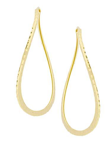MyGold Creolen Ohrringe Gelbgold 333 Gold (8 Karat) Ohne Stein Ø 45mm Groß Diamantiert Geschwungene Form Goldohrringe Goldcreolen Damenohrringe Ninfea C-05702-G302-45mm
