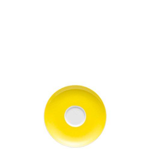 Thomas Sunny Day Soucoupe pour Tasse à Café 20 cl, Porcelaine, Neon Yellow / Jaune, Passe au Lave-Vaisselle, 14,5 cm, 14741
