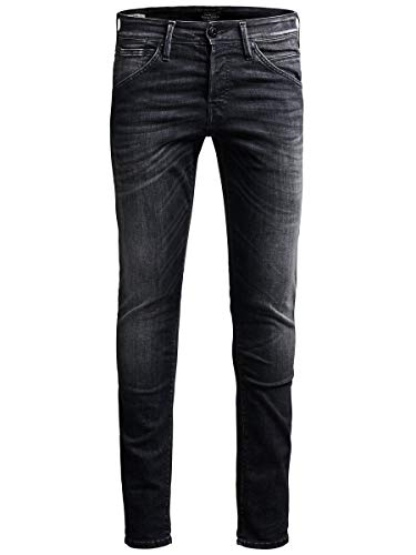 JACK & JONES Herren Slim Fit Jeans Glenn Fox BL 655 SPS 3132Black Denim