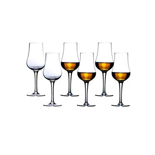 Copas Vino El sabor del whisky escocés de cristal copa de vino Vaso de coñac Neat catador del vino mejor regalo Beber 1016 (Color : 6 Pcs, Size : 140ml)