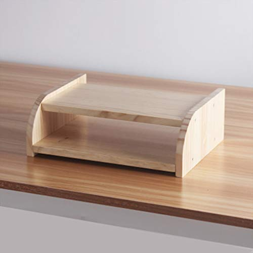 XINGPING-Shelf Set de sobremesa para TV de Escritorio de Madera Maciza Rack de Almacenamiento WiFi Ruteador inalámbrico Caja de Almacenamiento de Rack Cat Light Sala de Estar
