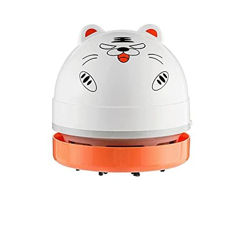 Lindo Mini Aspirador, Limpiador de Escritorio de Oficina portátil de Alta Durabilidad, Limpiador de desechos Multifuncional para Teclado/Oficina (sin incluir la batería)