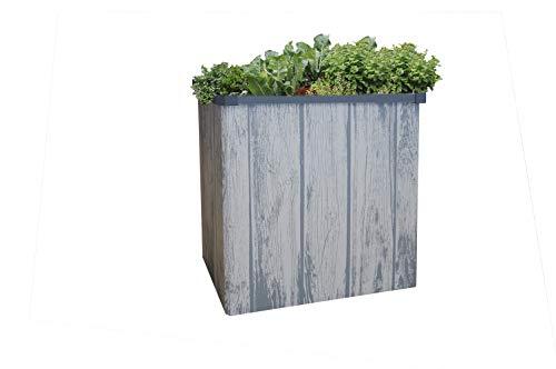 Juwel Jardinière surélevée pour Balcon et terrasse Easy Garden (Bouleau Clair, Plate-Bande Pliable à Monter Rapidement, Grand Volume de Remplissage, Anti-limaces) 20091