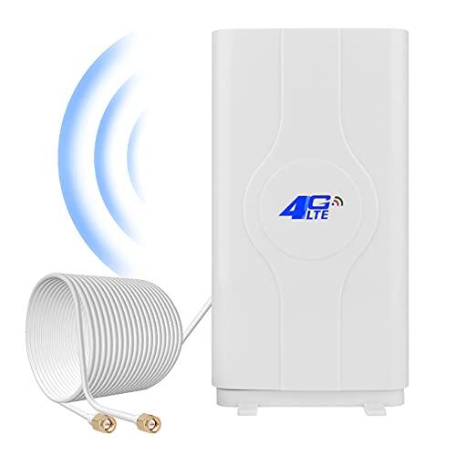 SMA 4G LTE Antenne 35dBi 2 x SMA Stecker(Male) Mimo WLAN Antenna Booster Verstärker Antenne Richtantenne Signalverstärker für 4G-Router Mobile Hotspots Huawei B525, B715, B593, B612, Vodafone