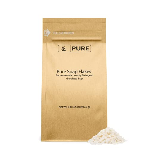 Soap Granule Flakes (2 lb) Plant Based, Eco Friendly, For Homemade Laundry...