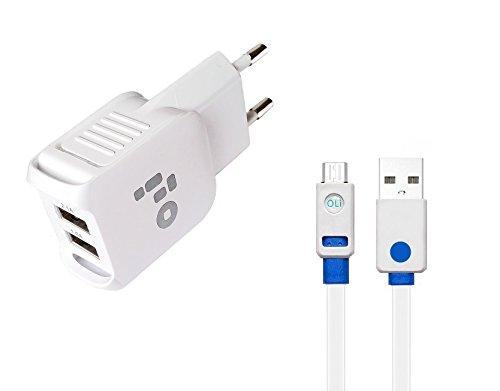2Port Original Oli Max 2100mAh cargador S8S7S7Edge S6S6Edge S5S4S3J7J5J3J1A8A7A5A3S3mini Fuente con cable datos cable de carga Adaptador de cable