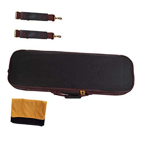 SDENSHI Professional 4/4 Violinkoffer, Wasserdicht Geigenkoffer Geigenetui, Violin Hard Case Geigenkasten mit Hygrometer, 90 x 25 x 14,5 cm