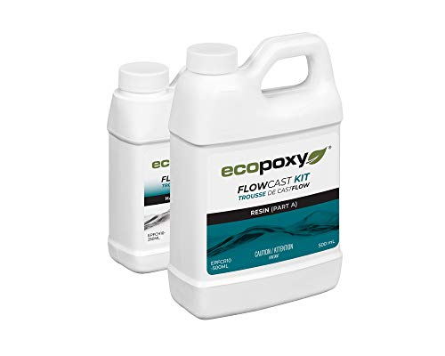 EcoPoxy FlowCast 750mL Kit Clear Casting Epoxy Resin for Wood Working,...