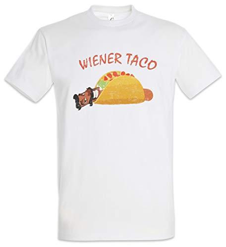 Urban Backwoods Wiener Taco Herren T-Shirt Weiß Größe 5XL