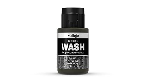 Vallejo 35 ml, Wash-Farbe für Modellbau dunkelgrau
