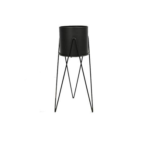 ZXS668 Bloemenstandaard - Plantenplank Nordic Bloempot Smeedijzeren Metalen Vloerstandaard Balkon Woonkamer Decoratie (zwart)