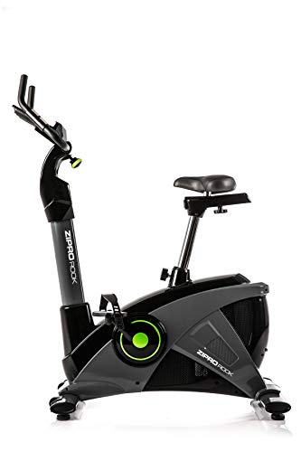 Zipro Erwachsene Magnetisches Fitnessbike Heimtrainer iConsole Rook bis 150kg Eine Schwungmasse von 10 kg, Schwarz, One Size