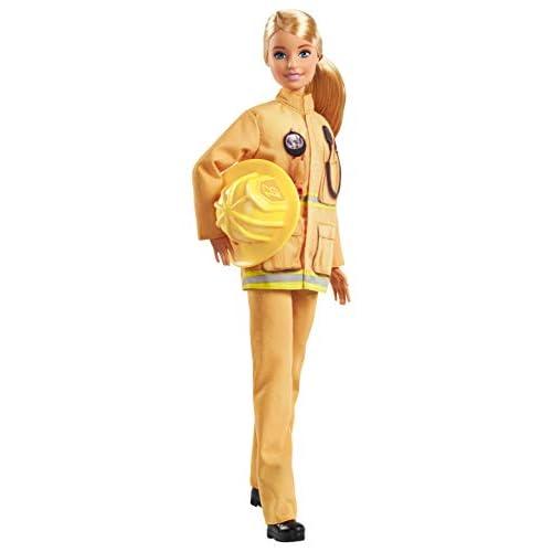 Barbie Carriere Iconiche, Pompiere, Edizione Esclusiva per 60° Anniversario, da Collezionare, Bambola Giocattolo per Bambini 3 + Anni GFX29