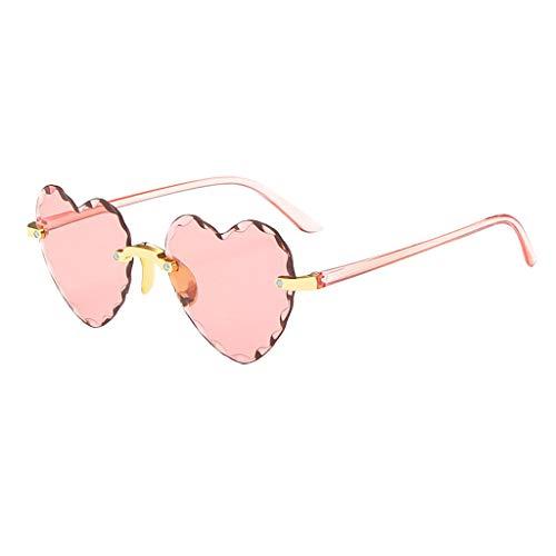 Samore Gafas de sol para mujer 2021, unisex, lentes multicolor, retro, moda con forma de corazón, mariposa, redondas, cuadradas, ojos de gato, Rosa 2, Talla única