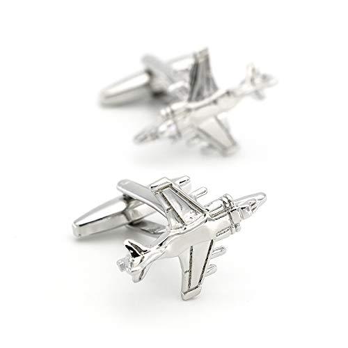 zhoufeng Krieg Flugzeug Design Kämpfer Flugzeug Manschettenknöpfe Qualität Messing Material Silber Farbe Manschettenknöpfe männliche Freunde