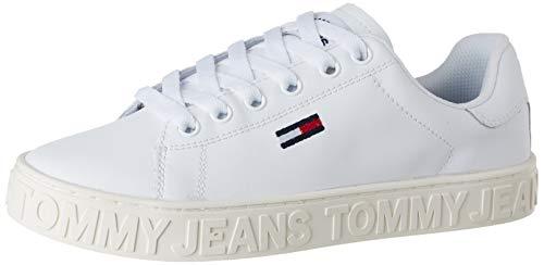Tommy Jeans Damen COOL Sneaker, Weiß (White 100), 38 EU