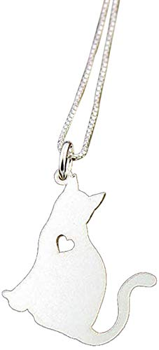 Personalized Cat Lover Gift for Her Cat Jewelry Personalized Cat Necklace Sterling Silver Cat Memorial Necklace Personalized Cat Gift