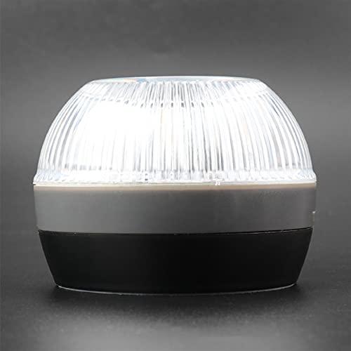 Tira de luz LED Luz de Emergencia LED de Emergencia Linterna de Linterna Lámpara de Advertencia Redonda 3-Modo Super Brillante Luz Blanca Luz Exterior Amarillo Luz estroboscópica Tira de luz