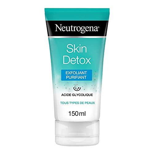 Neutrogena Exfoliant Purifiant Visage Enrichi en Acide Glycolique, Skin Detox, Pour Tout Type de Peaux, Tube 150 ml