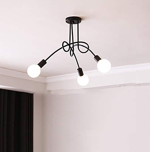 WWLONG Deckenleuchte Kronleuchter LED Moderne Deckenleuchte/Kronleuchter Kreative Wohnzimmer Schlafzimmer Hotel Restaurant-Black-S-White-M