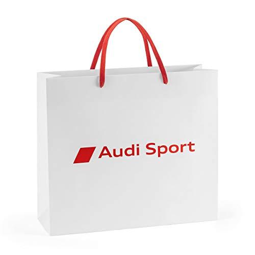 Audi 7281900202 Tragetasche Papier Geschenktüte weiß/rot (M), M