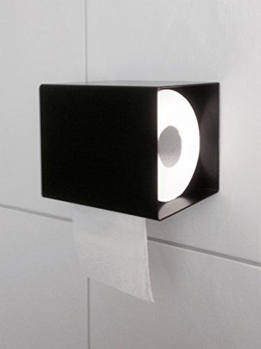 Klopapierhalter Klorollenhalter Designer Toilettenpapierhalter WC Bad schwarz made in germany