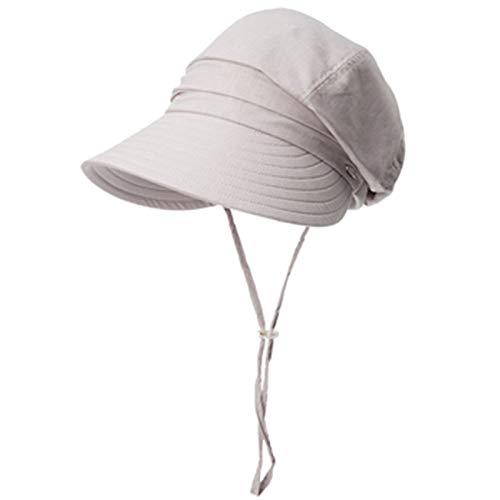 Vinteen Sombrero de Gorra Visera de Verano Femenina Versión Coreana Bloqueador Solar Cubierta Anti-UV Exterior Cara Plegable de Viaje Ciclismo Da Aleros Sombrero Sunhat