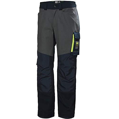 Helly Hansen - Pantalones de Trabajo Modelo Aker para Hombre (C44/Negro Jet/Gris Oscuro)